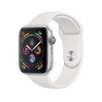 Часы Apple Watch Series 4 GPS 44mm Aluminum Case with Sport Band Серебристый/Белый MU6A2