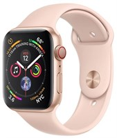 Часы Apple Watch Series 4 GPS + Cellular 44mm Stainless Steel Case with Sport Band Розовый/Розовый песок