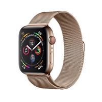 Часы Apple Watch Series 4 GPS + Cellular 40mm Stainless Steel Case with Milanese Loop Gold Золотые