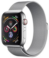 Часы Apple Watch Series 4 GPS + Cellular 40mm Stainless Steel Case with Milanese Loop MTUM2 Silver Серебристый