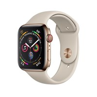 Часы Apple Watch Series 4 GPS + Cellular 40mm Stainless Steel Case with Sport Band Stone Золотистый