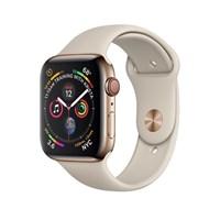 Часы Apple Watch Series 4 GPS + Cellular 40mm Stainless Steel Case with Sport Band Stone Золотистый