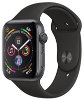 Часы Apple Watch Series 4 GPS 44mm Aluminum Case with Sport Band MU6D2 Серый космос/Черный