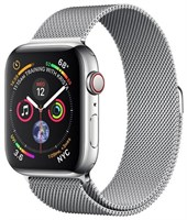 Часы Apple Watch Series 4 GPS + Cellular 44mm Stainless Steel Case with Milanese Loop MTX12 Silver Серебристый