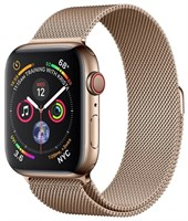 Часы Apple Watch Series 4 GPS + Cellular 44mm Stainless Steel Case with Milanese Loop MTX52 Gold Золотистый