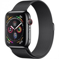 Часы Apple Watch Series 4 GPS + Cellular 44mm Stainless Steel Case with Milanese Loop MTX32 Space Black Серый космос/Черный