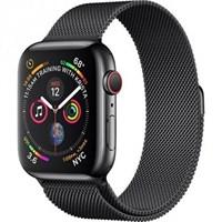 Часы Apple Watch Series 4 GPS + Cellular 44mm Stainless Steel Case with Milanese Loop MTX32 Space Black Серый космос/Черный