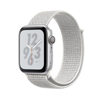 Часы Apple Watch Series 4 GPS 40mm Aluminum Case with Nike Sport Loop MU7F2 Summit White, Серебристый/Снежная вершина