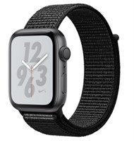 Часы Apple Watch Series 4 GPS 44mm Aluminum Case with Nike Sport Loop MU6K2 Серый космос/черный