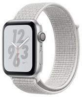 Часы Apple Watch Series 4 GPS 44mm Aluminum Case with Nike Sport Loop MU7H2 Summit White, Серебристый/Снежная вершина