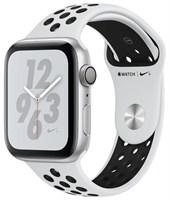 Часы Apple Watch Series 4 GPS 44mm Aluminum Case with Nike Sport Band MU6K2 Серебристый/Чистая платина/Черный