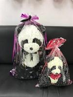 Панда из роз 70 см