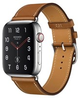 Часы Apple Watch Hermes Series 4 GPS + Cellular, 40mm Stainless Steel Case with Fauve Barenia Leather Single Tour