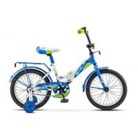 """Велосипед 16"""" STELS Talisman (10.5"""" бело-синий)"""