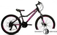 """Велосипед Crait Joys 24"""" (21ск. сталь ДИСК) розовый"""
