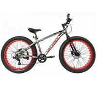 "Велосипед TechTeam Attack 26""х15"" Fat серый"