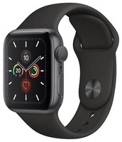 Часы Apple Watch Series 5 GPS 44mm Aluminum Case with Sport Band MWVF2 Серый космос/черный