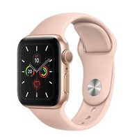 Часы Apple Watch Series 5 GPS 44mm Aluminum Case with Sport Band MWVE2 Золотистый/Розовый песок