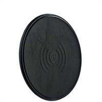 Беспроводное зарядное устройство i-Carer (5V-1A) Genuine Leather Wireless charging (NW180-IYD0004black) кожа Черный